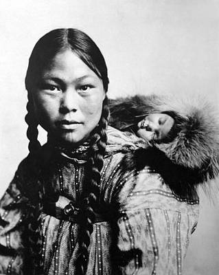 Photograph - Eskimo Woman And Child by Granger