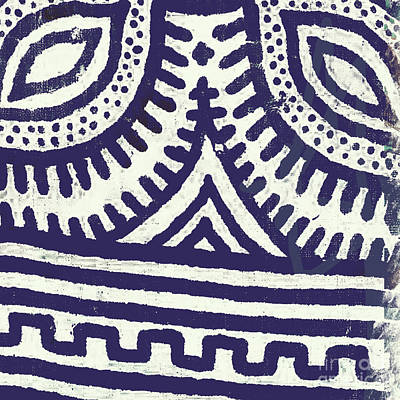 African Fabric Painting - Esme IIi by Mindy Sommers