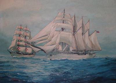 Esmerelda And The Sagres Tall Ships Art Print