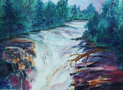Cascading Painting - Esopus Creek by Ellen Levinson