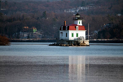 Esopus Lighthouse In December Print by Jeff Severson