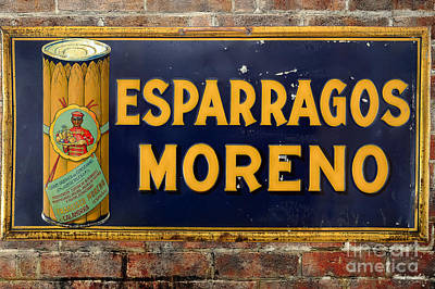 Photograph - Esparragos Moreno Vintage Metal Sign by RicardMN Photography