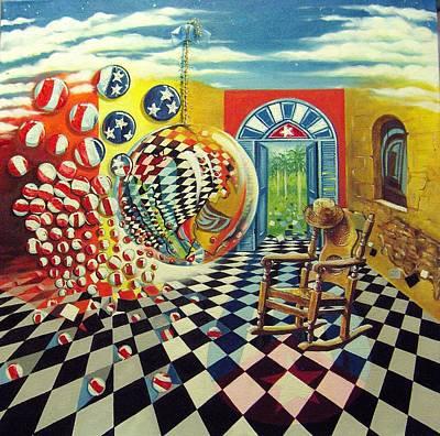 Painting - Esperando Ansiosamente La Salida by Roger Calle
