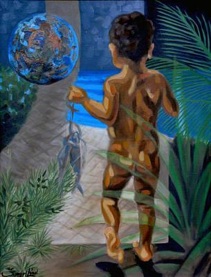 Sphere Painting - Esperanza De Vida by Samuel Lind