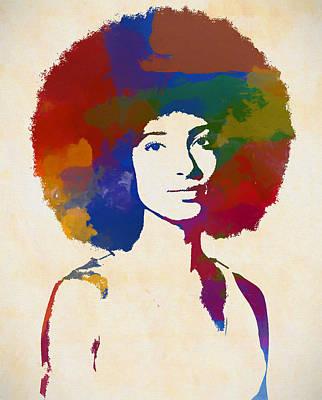 Painting - Esperanza Spalding by Dan Sproul