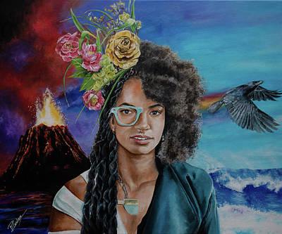 Painting - Esperanza Spalding /emily's D by Pascal Martos