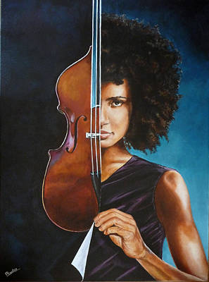 Painting - Esperanza Spalding by Pascal Martos