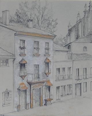 Pastel - Espiritu Santo Street  Old Rhonda Spain by Marlene Kingman