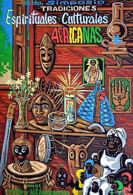 Espiritualidad Africana Art Print by Samuel Lind