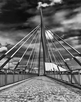 Photograph - Esplande Riel Pedestrian Bridge by Tom Gort