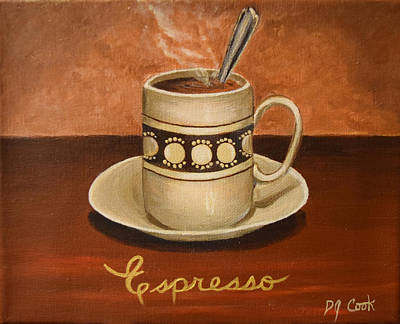 Espresso Painting - Espresso 2 by Donna Cook