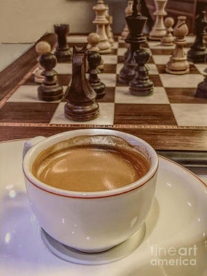Mixed Media - Espresso And Chess by Susan Lafleur