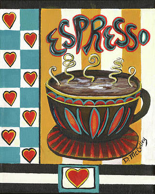 Coffee Painting - Espresso by Debbie McCulley