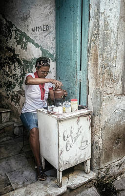Crazy Cartoon Creatures - Espresso Entrepreneur Havana Cuba by Joan Carroll