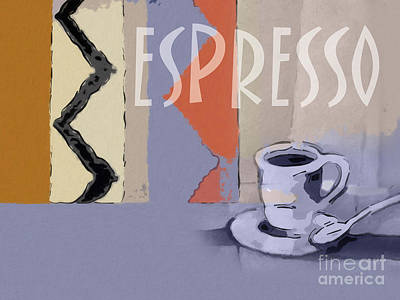 Painting - Espresso Poster by Lutz Baar