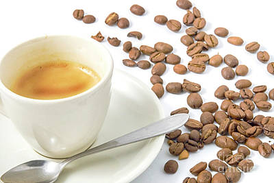 Photograph - Espresso With Beans by Patricia Hofmeester