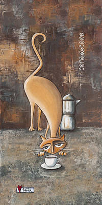 Addict Painting - Esprresso by Tania Vorster