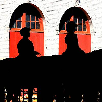 Jerry Sodorff Royalty-Free and Rights-Managed Images - Equestrian Silhouettes by Jerry Sodorff