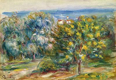 Painting - Esquisse De Paysage Du Midi by Pierre-Auguste Renoir