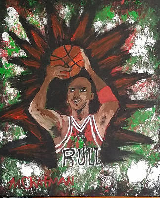 Michael Jordan Portrait Painting - Essence Of Mj by Michael Chatman
