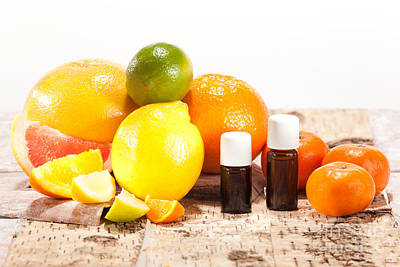 Essential Oils From Fruits Art Print