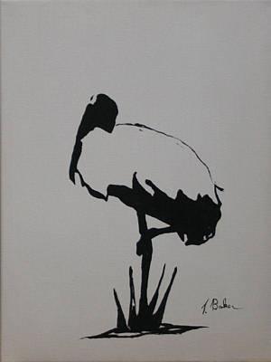 Painting - Essential Woodstork by Tony Baker