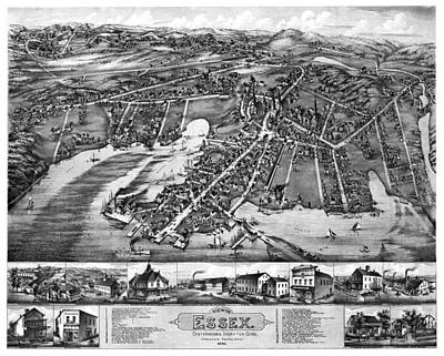 Photograph - Essex Centerbrook Ivorytown Antique Map 1881 by Phil Cardamone