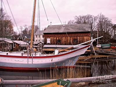 Painting - Essex Boat Yard by Paul Galante