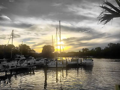 Photograph - Essex Sunset by Chris Montcalmo