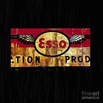 Esso Oil Painting - Esso Circa 1920's by Saundra Myles