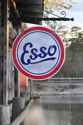 Photograph - Esso Sign  by Terry DeLuco