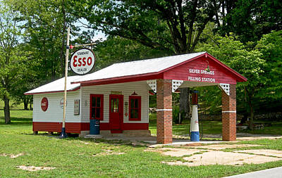 Pump Photograph - Esso Station by Greg Joens