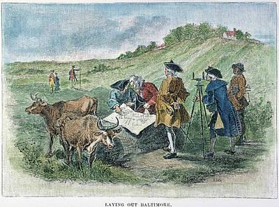 1730 Photograph - Establishing Of Baltimore by Granger