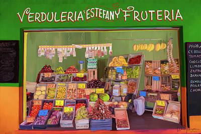 Painting - Estefany Market by Wally Hampton