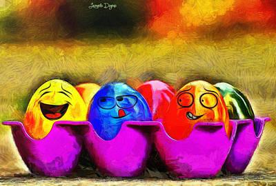 Xmas Digital Art - Ester Eggs - Da by Leonardo Digenio