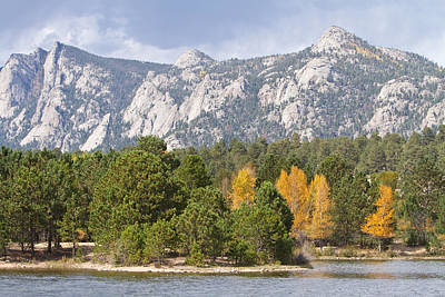Estes Park Colorful Colorado Autumn Lake View   Art Print