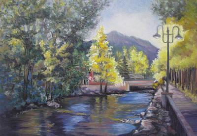 Estes Park Riverside Art Print by Carole Haslock