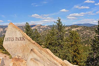 Photograph - Estes Park Rock Estes Colorado by Toby McGuire