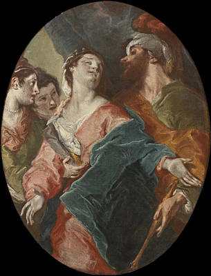 Esther Painting - Esther And Ahasuerus by Giuseppe Bazzani