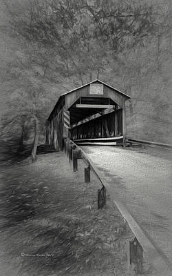 Covered Bridge Photograph - Esther Furnace No 8 by Marvin Spates