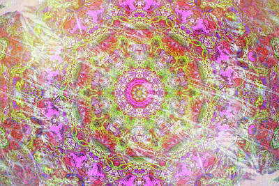 Digital Art - Esther In Smoke And Fire Kaleidoscope by Donna L Munro