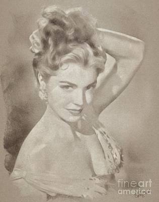 Esther Drawing - Esther Williams, Vintage Actress by John Springfield