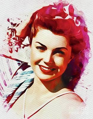 Esther Williams, Vintage Movie Star Art Print