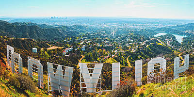 Los Angeles Skyline Photograph - Esthetic Hollywood by Art K
