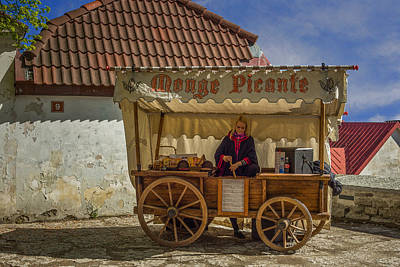 Port Town Mixed Media - Estonian Food Truck by Capt Gerry Hare