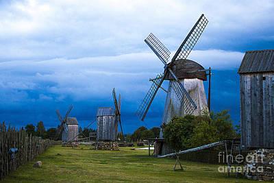 Baltic Amber Photograph - Estonian Windmills by Christian Hallweger