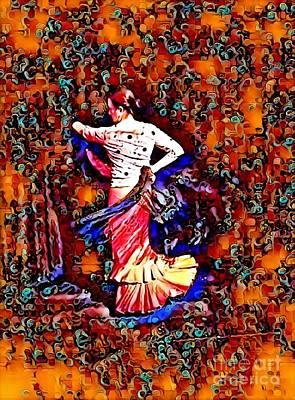 Flamenco Digital Art - Estrella 6 by Julie Pacheco-Toye