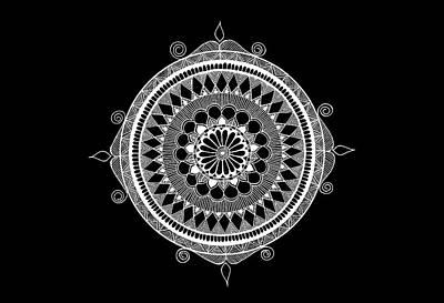 Mental Health Mixed Media - Estrella Mandala by Anmol Jauher