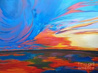 Estuary Sky Original by Vanessa Hadady BFA MA