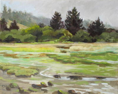 Sitka Painting - Estuary With Three Friends by Carol Sandor